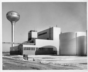 Exterior of the Chrysler Stamping Plant, not long after it opened