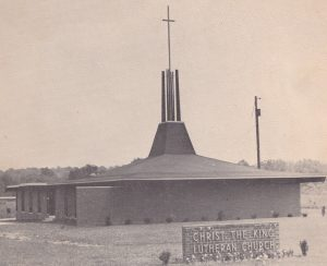 Christ the King had its first worship service in October, 1961 and became a congregation in the American Lutheran Church April 15, 1962.